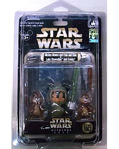 STAR WARS USAディズニーテーマパーク 2013年 WEEKEND限定 フィギュア MICKEY MOUSE AND CHIP AND DALE AS LUKE SKYWALKER AND EWOKS