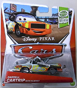 MATTEL CARS 2013 シングル DARRELL CARTRIP WITH HEADSET