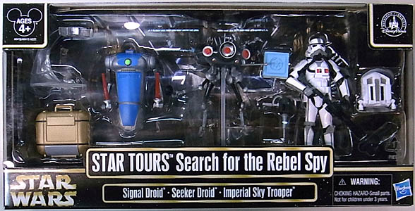 STAR WARS USAディズニーテーマパーク限定 STAR TOURS SEARCH FOR THE REBEL SPY 3PACK
