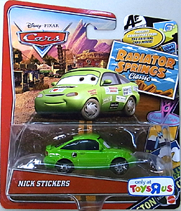 MATTEL CARS USA TOYSRUS限定 RADIATOR SPRINGS CLASSIC シングル NICK STICKERS