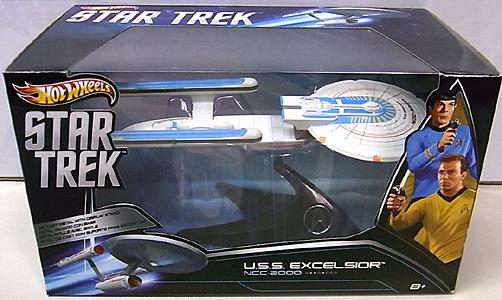 MATTEL HOT WHEELS STAR TREK 1/50スケールダイキャストビークル 2013 U.S.S. EXCELSIOR NCC-2000