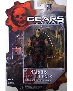 NECA GEARS OF WAR 4インチアクションフィギュア シリーズ1 MARCUS FENIX [BLOODY VER.]
