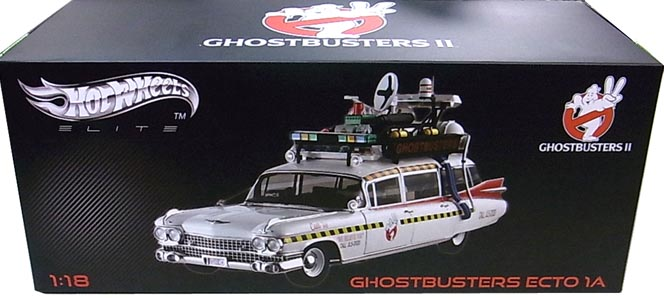 MATTEL HOT WHEELS 1/18スケール GHOSTBUSTERS II ECTO 1A [ELITE]