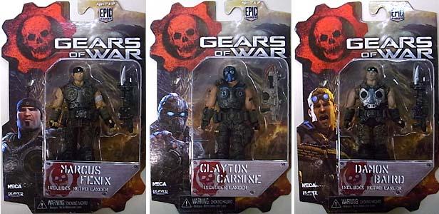 NECA GEARS OF WAR 4インチアクションフィギュア シリーズ1 3種セット