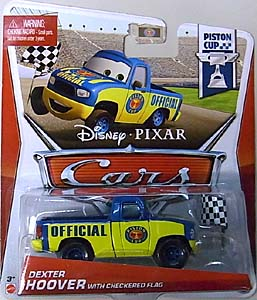 MATTEL CARS 2013 シングル DEXTER HOOVER WITH CHECKERED FLAG