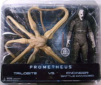 NECA PROMETHEUS USA TOYSRUS限定 2PACK TRILOBITE VS ENGINEER [BATTLE DAMAGED]