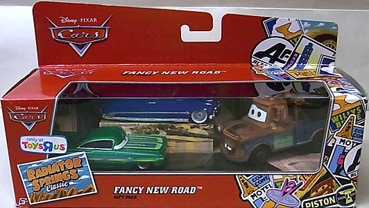MATTEL CARS USA TOYSRUS限定 RADIATOR SPRINGS CLASSIC 3PACK FANCY NEW ROAD パッケージ傷み特価