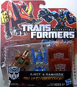 HASBRO TRANSFORMERS GENERATIONS FALL OF CYBERTRON LEGENDS CLASS DATA DISC 2PACK EJECT & RAMHORN