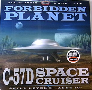 POLAR LIGHTS 1/144スケール FORBIDDEN PLANET C-57D SPACE CRUISER 組み立て式プラモデル