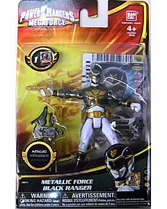 USA BANDAI POWER RANGERS MEGAFORCE 4インチアクションフィギュア METALLIC FORCE BLACK RANGER
