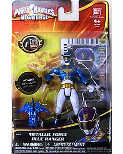 USA BANDAI POWER RANGERS MEGAFORCE 4インチアクションフィギュア METALLIC FORCE BLUE RANGER