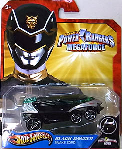 MATTEL HOT WHEELS 1/64スケール POWER RANGERS MEGAFORCE BLACK RANGER SNAKE ZORD