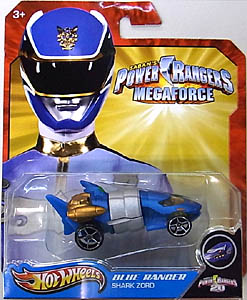 MATTEL HOT WHEELS 1/64スケール POWER RANGERS MEGAFORCE BLUE RANGER SHARK ZORD