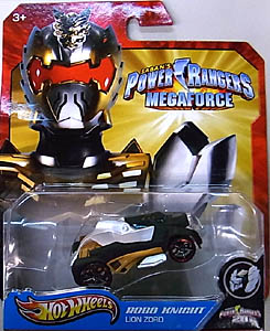 MATTEL HOT WHEELS 1/64スケール POWER RANGERS MEGAFORCE ROBO KNIGHT LION ZORD