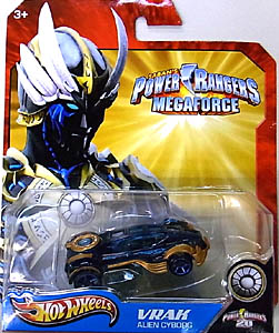 MATTEL HOT WHEELS 1/64スケール POWER RANGERS MEGAFORCE VRAK ALIEN CYBORG