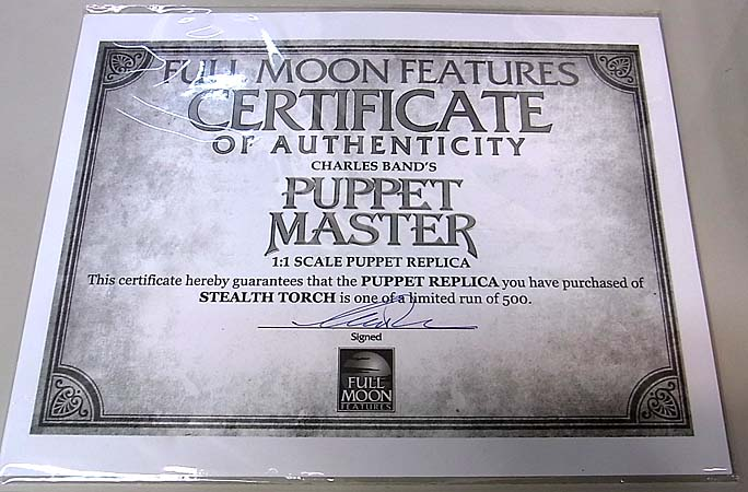 FULL MOON TOYS PUPPET MASTER 1/1スケール STEALTH TORCH