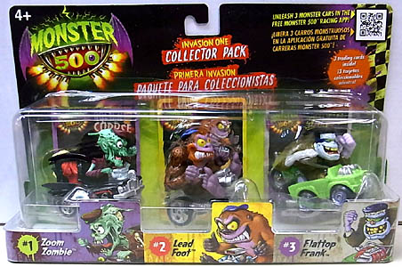 その他・海外メーカー MONSTER 500 SMALL CAR & TRADING CARD 3PACK INVASION ONE [ZOOM ZOMBIE入り]