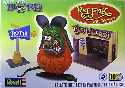 REVELL 1/25スケール ED ROTH RAT FINK WITH DIORAMA 組み立て式プラモデル パッケージ傷み特価