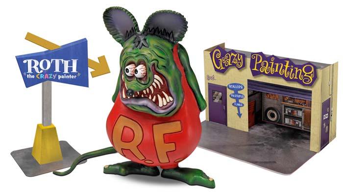 REVELL 1/25スケール ED ROTH RAT FINK WITH DIORAMA 組み立て式プラモデル