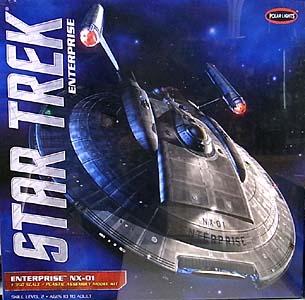 POLAR LIGHTS 1/350スケール STAR TREK ENTERPRISE ENTERPRISE NX-01 組み立て式プラモデル
