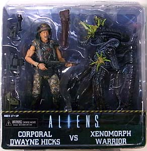 NECA ALIEN 7インチアクションフィギュア ALIENS CORPORAL DWAYNE HICKS VS XENOMORPH WARRIOR 2PACK