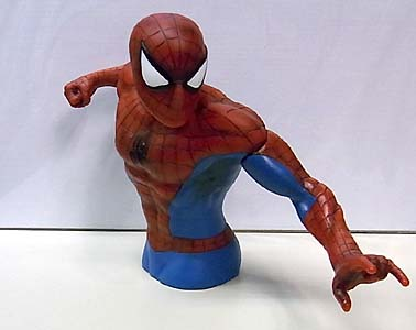 MONOGRAM PREVIEWS限定 SPIDER-MAN SPIDER-MAN BUST BANK ソフビ製