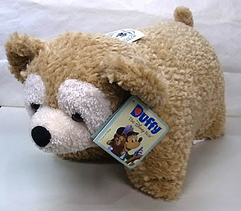 DISNEY USAディズニーテーマパーク限定 DUFFY THE DISNEY BEAR REVERSIBLE PILLOW
