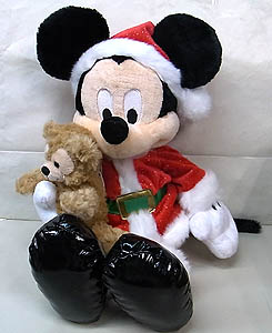 DISNEY USAディズニーテーマパーク限定 15 INCH SANTA MICKEY MOUSE WITH DUFFY THE DISNEY BEAR