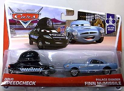 MATTEL CARS 2013 2PACK DOUG SPEEDCHECK & PALACE DANGER FINN McMISSILE