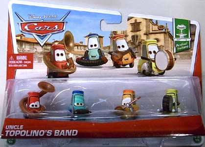 MATTEL CARS 2013 4PACK UNCLE TOPOLINO'S BAND