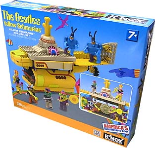 K'NEX THE BEATLES YELLOW SUBMARINE YELLOW SUBMARINE BUILDING SET