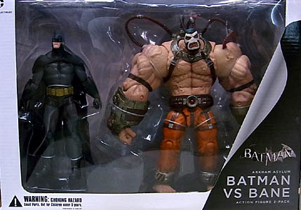 DC COLLECTIBLES BATMAN: ARKHAM ASYLUM BATMAN VS BANE ACTION FIGURE 2PACK