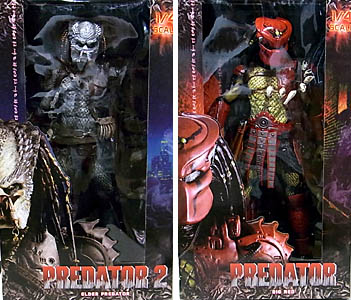 NECA PREDATOR 1/4スケール PREDATOR 2 ELDER PREDATOR & BATMAN: DEAD END BIG RED PREDATOR 2種セット