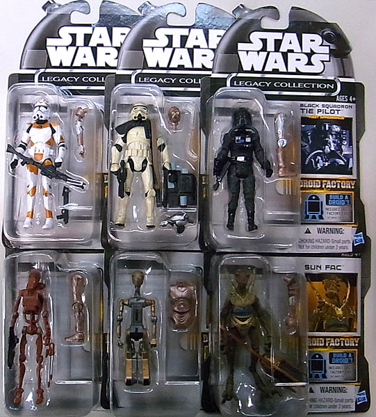 HASBRO STAR WARS USA AMAZON限定 LEGACY COLLECTION DROID FACTORY 6PACK