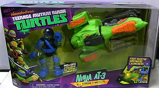 PLAYMATES NICKELODEON TEENAGE MUTANT NINJA TURTLES VEHICLE NINJA AT-3
