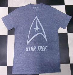 STAR TREK/スタートレック ロゴ (霜降りブルー)