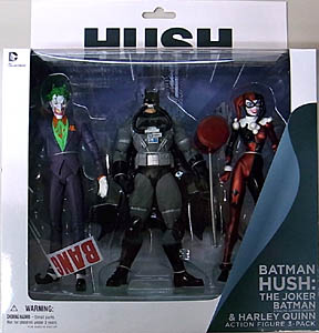 DC COLLECTIBLES BATMAN HUSH THE JOKER & BATMAN [STEALTH JUMPER VARIANT] & HARLEY QUINN 3PACK
