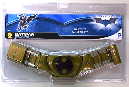 RUBIE'S BATMAN THE DARK KNIGHT TRILOGY BATMAN ADULT SIZE BELT