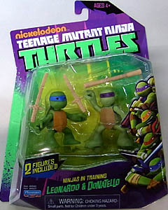 PLAYMATES NICKELODEON TEENAGE MUTANT NINJA TURTLES ベーシックフィギュア NINJAS IN TRAINING LEONARDO & DONATELLO