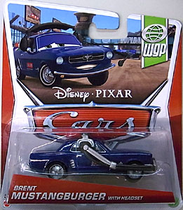 MATTEL CARS 2013 シングル BRENT MUSTANGBURGER WITH HEADSET