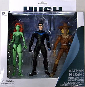DC COLLECTIBLES BATMAN HUSH POISON IVY & NIGHTWING & SCARECROW  3PACK