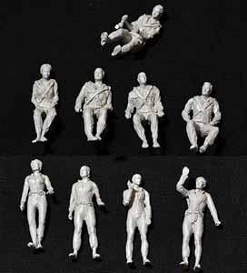 CROWS NEST MODELS ミクロの決死圏 プロテウス号 乗組員 立ちポーズ&座りポーズ コンボパック