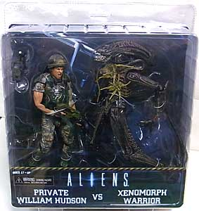 NECA ALIEN 7インチアクションフィギュア ALIENS PRIVATE WILLIAM HUDSON VS XENOMORPH WARRIOR 2PACK