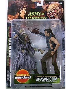 McFARLANE MOVIE MANIACS 4 ARMY OF DARKNESS ASH & PIT WITCH 2PACK [国内版] ブリスターヤケ特価