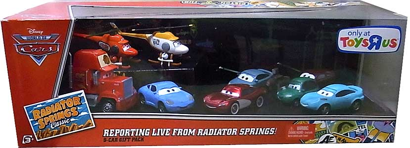 MATTEL CARS USA TOYSRUS限定 RADIATOR SPRINGS CLASSIC 9-CAR GIFT PACK REPORTING LIVE FROM RADIATOR SPRINGS!