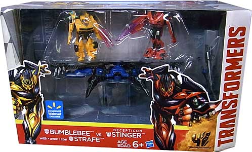 HASBRO 映画版 TRANSFORMERS: AGE OF EXTINCTON USA WALMART限定 3PACK BUMBLEBEE & STRAFE VS. DECEPTICON STINGER