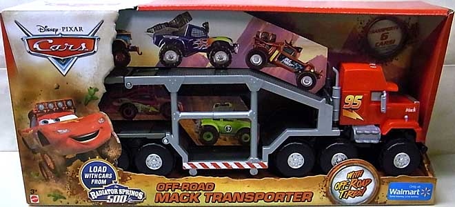 MATTEL CARS 2014 THE RADIATOR SPRINGS 500 1/2 OFF-ROAD MACK TRANSPORTER