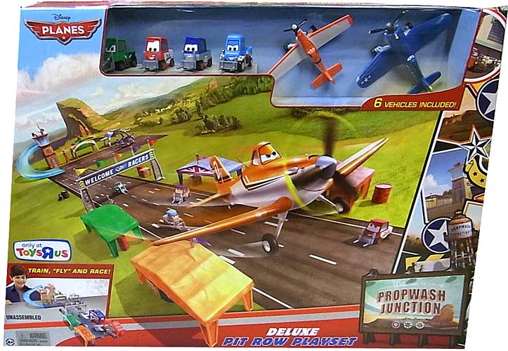 MATTEL PLANES DELUXE PIT ROW PLAYSET