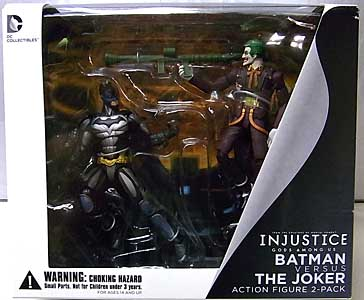 DC COLLECTIBLES INJUSTICE: GODS AMONG US 3.75インチアクションフィギュア BATMAN VS JOKER 2PACK