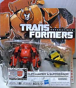 HASBRO TRANSFORMERS GENERATIONS LEGENDS CLASS CLIFFJUMPER & SUPPRESSOR 台紙傷み特価